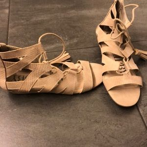 Brand new lace up sandals